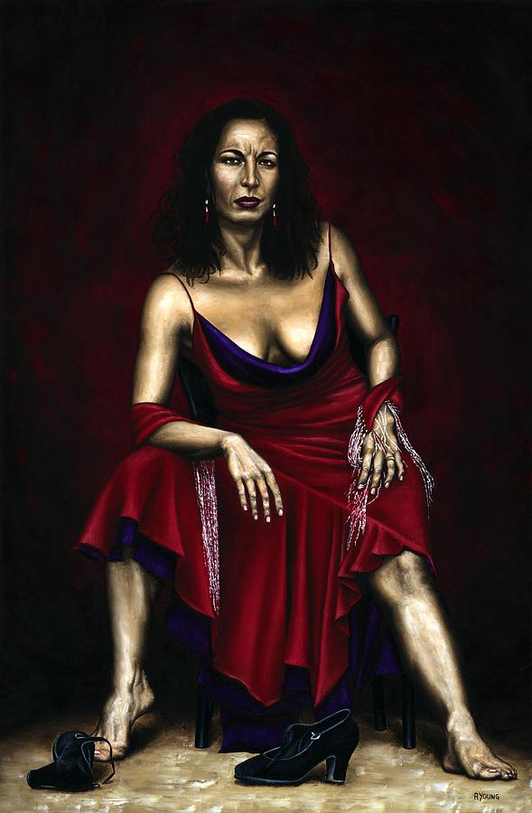 Portrait Painting - Portrait Of A Dancer by Richard Young