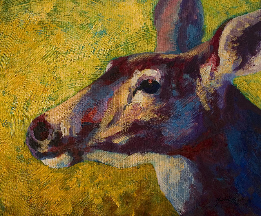Deer Painting - Portrait Of A Doe by Marion Rose