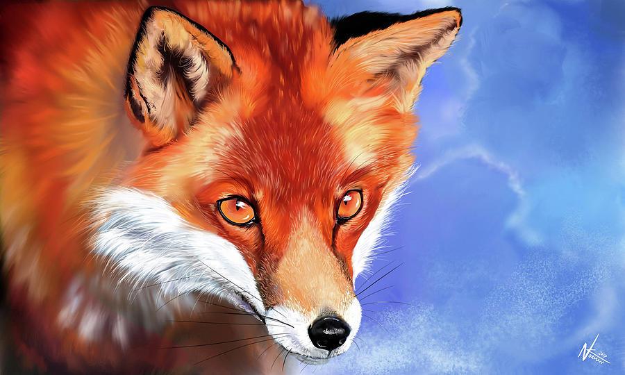 Portrait of a Fox by Norman Klein
