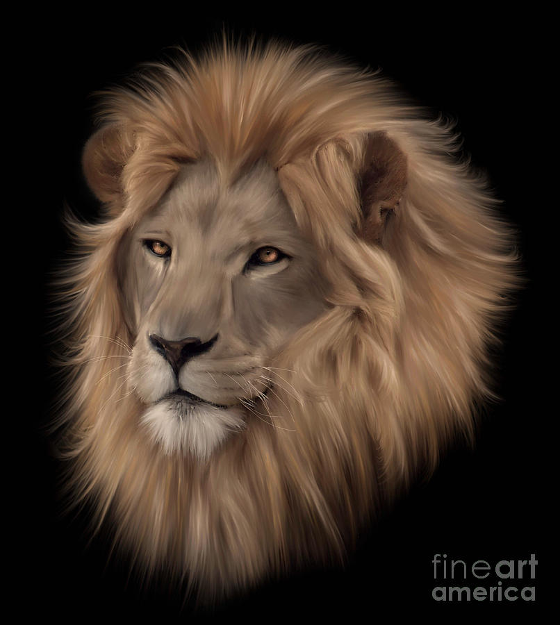 Portrait Painting - Portrait Of A Lion by Lynn Jackson
