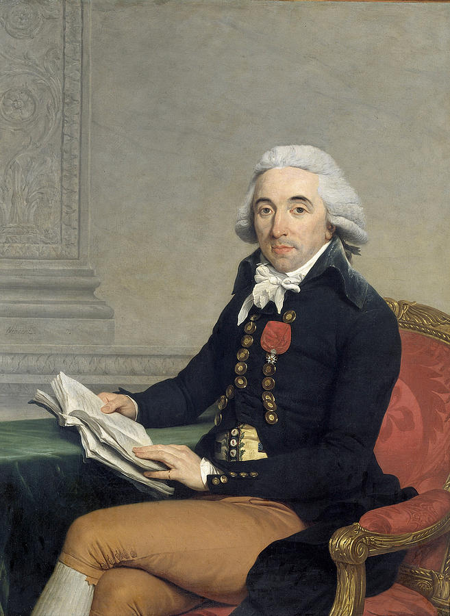 Portrait Of A Man Painting - Portrait Of A Man by Francois-Andre Vincent