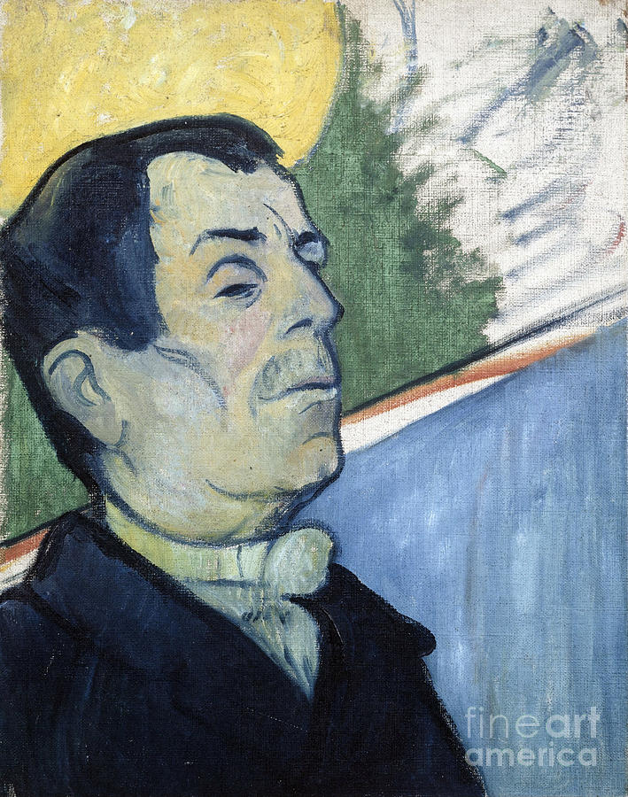 Paul Painting - Portrait Of A Man by Gauguin