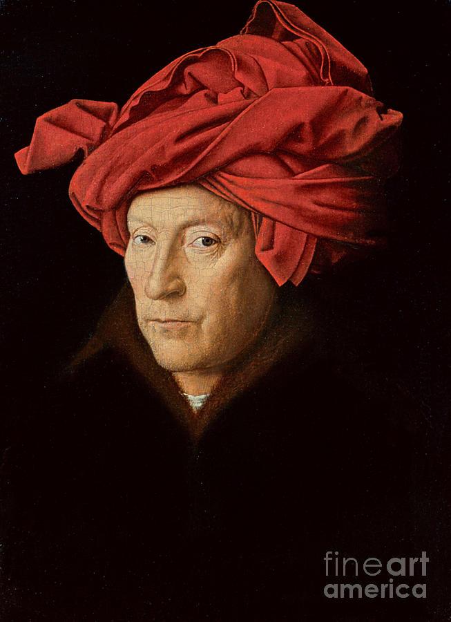 Portraits Painting - Portrait Of A Man by Jan Van Eyck
