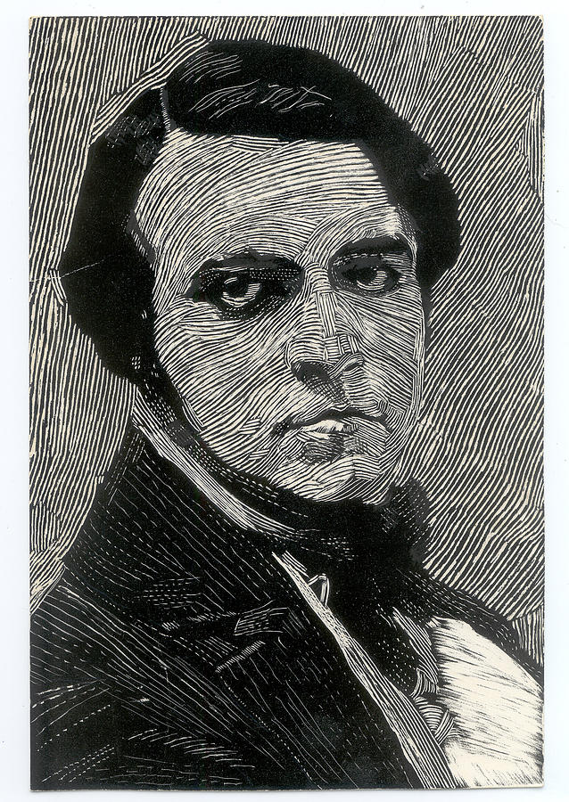 Scratchboard Drawing - Portrait Of A Man by Robert Bissett