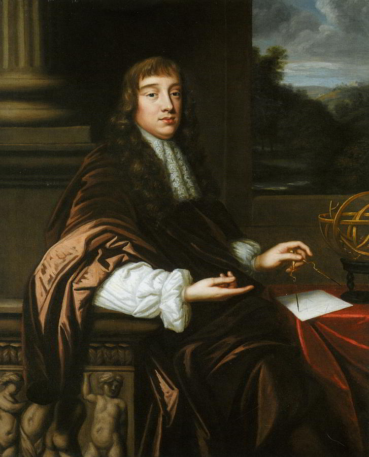 1680 Painting - Portrait Of A Mathematician by Mary Beale