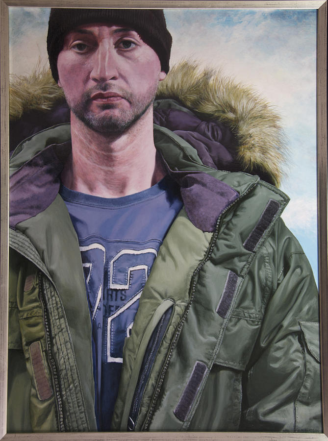Wales Painting - Portrait Of A Mountain Walker. by Harry Robertson