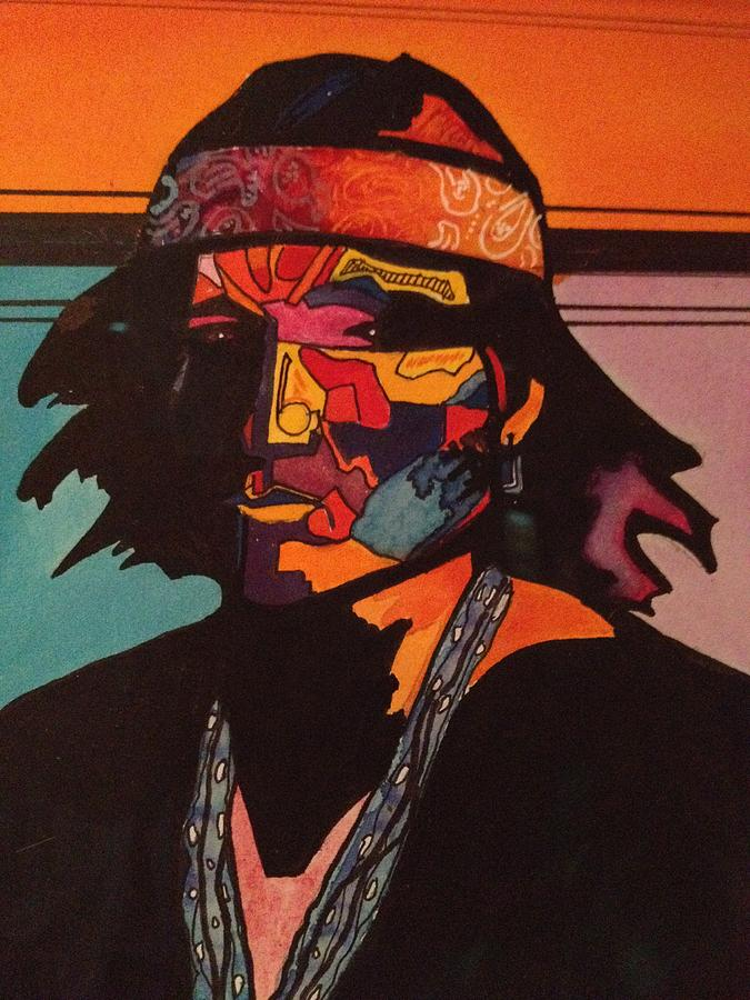 Contemporary Painting - Portrait Of A Native American Indian by Jeff Knott