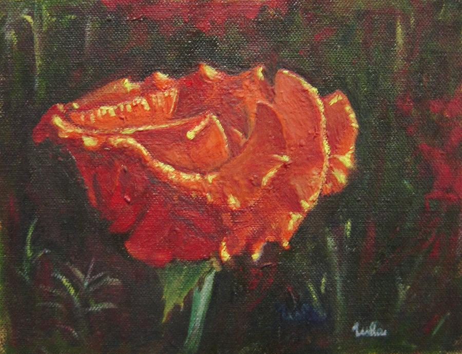 Portrait Painting - Portrait Of A Rose 8 by Usha Shantharam