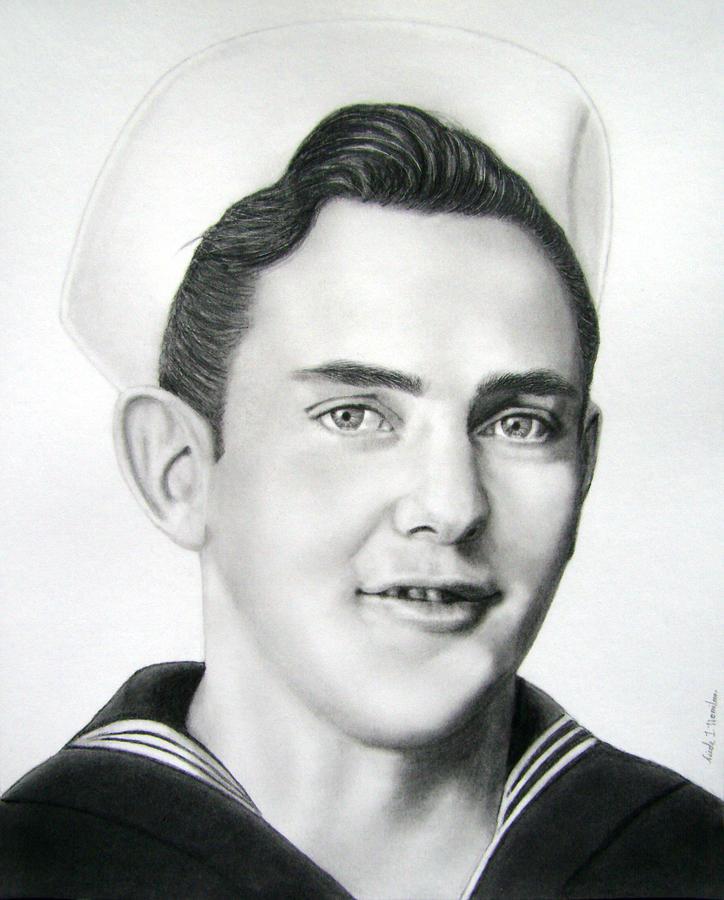 Portrait Drawing - Portrait Of A Sailor by Nicole I Hamilton