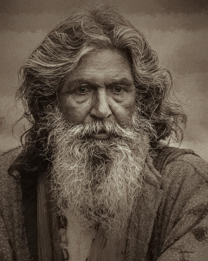 Man Painting - Portrait Of A Wise Man - Painting by Ericamaxine Price