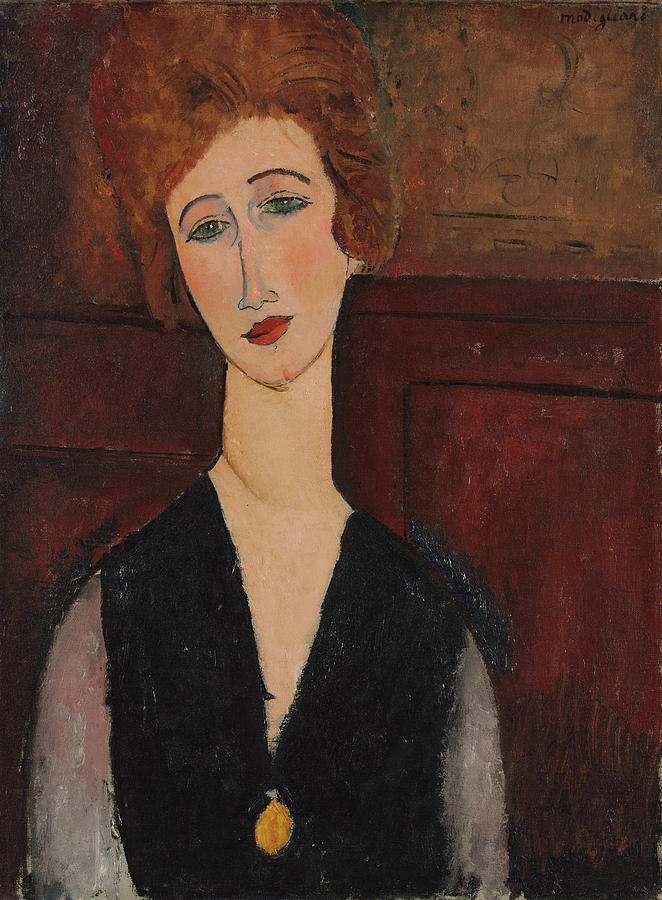 Portrait of a Woman Painting by Amedeo Modigliani