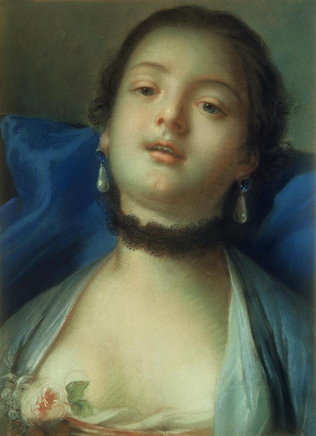 Portrait Painting - Portrait Of A Woman  by Francois Boucher