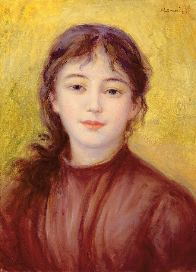 Portrait Of A Woman Painting by Pierre Auguste Renoir