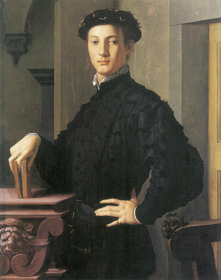 Agnolo Bronzino Painting - Portrait Of A Young Man by Agnolo Bronzino