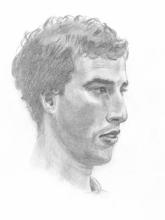 Portrait Of A Young Man Drawing