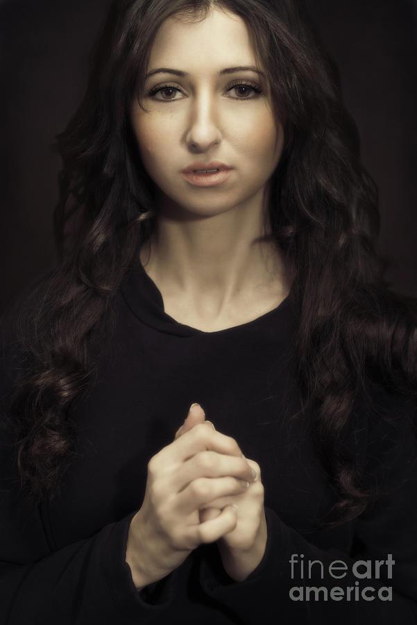 Portrait Photograph - Portrait Of A Young Woman by Amanda Elwell