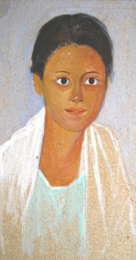 Portrait Of A Young Woman Painting by George Siaba