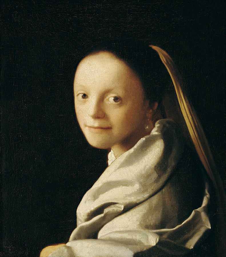 Vermeer Painting - Portrait Of A Young Woman by Jan Vermeer