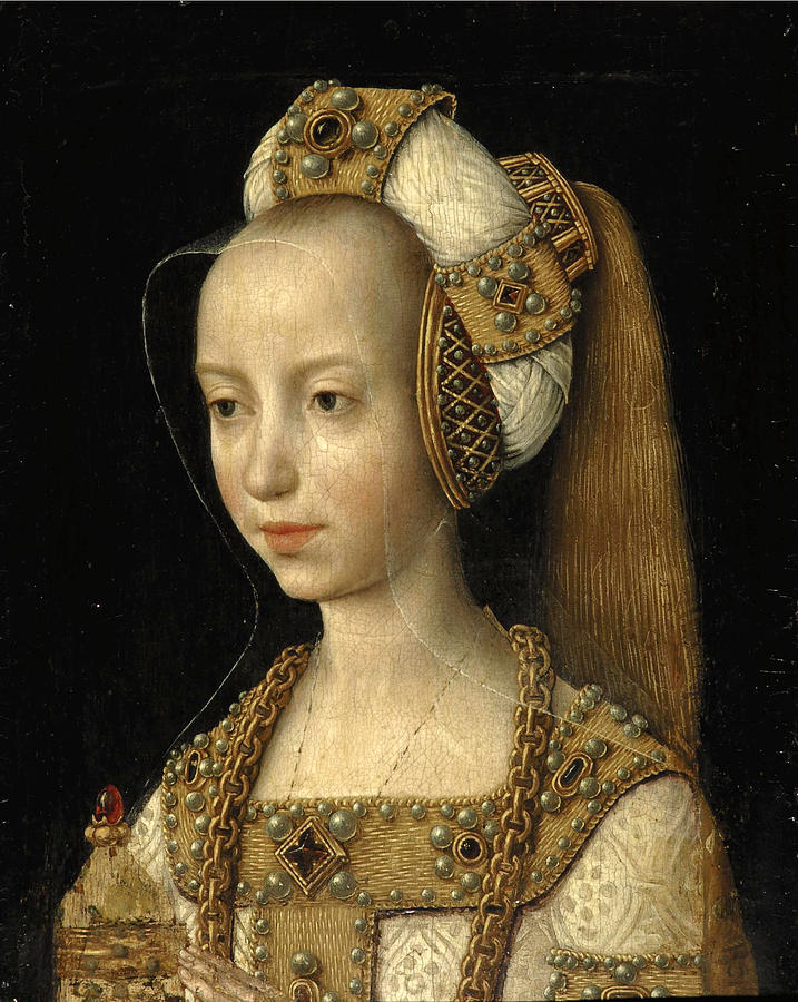 Portrait Of A Young Woman Probably Mary Of Burgundy In The ...