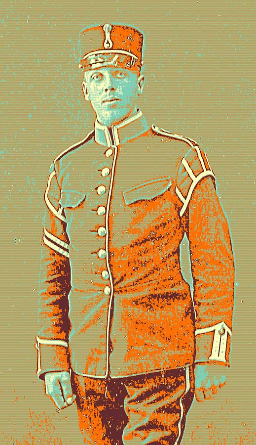 Man Painting - Portrait Of A Young  Wwi Soldier Series 14 by Celestial Images