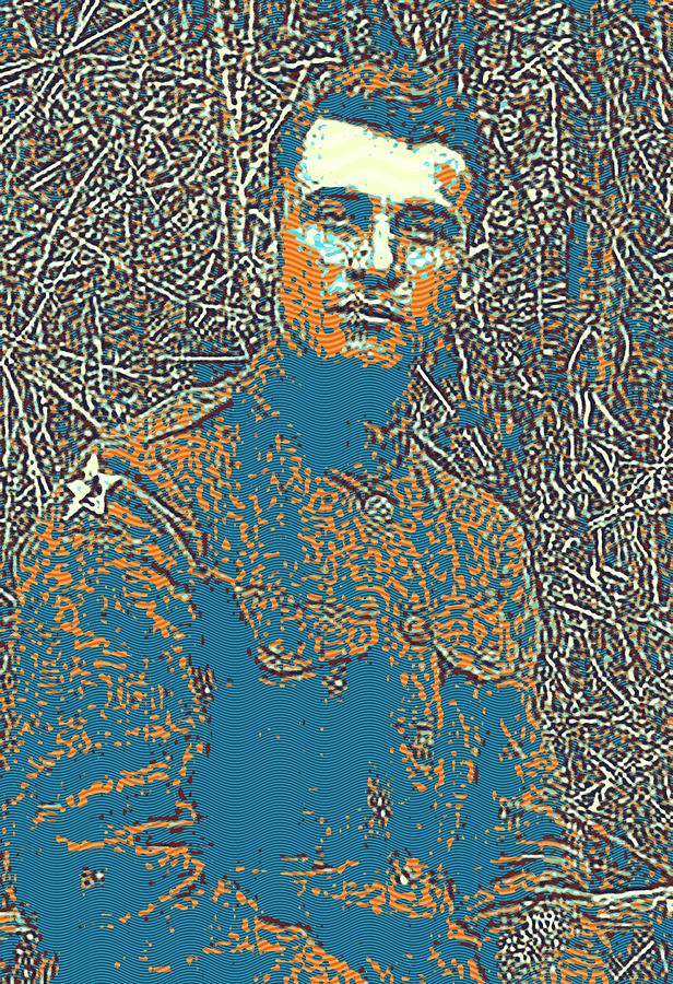 Man Painting - Portrait Of A Young  Wwi Soldier Series 16 by Celestial Images