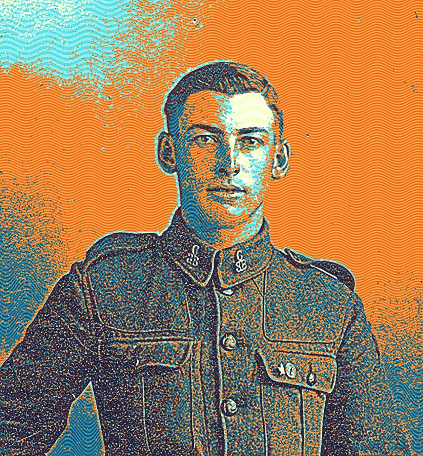 Man Painting - Portrait Of A Young  Wwi Soldier Series 6 by Celestial Images