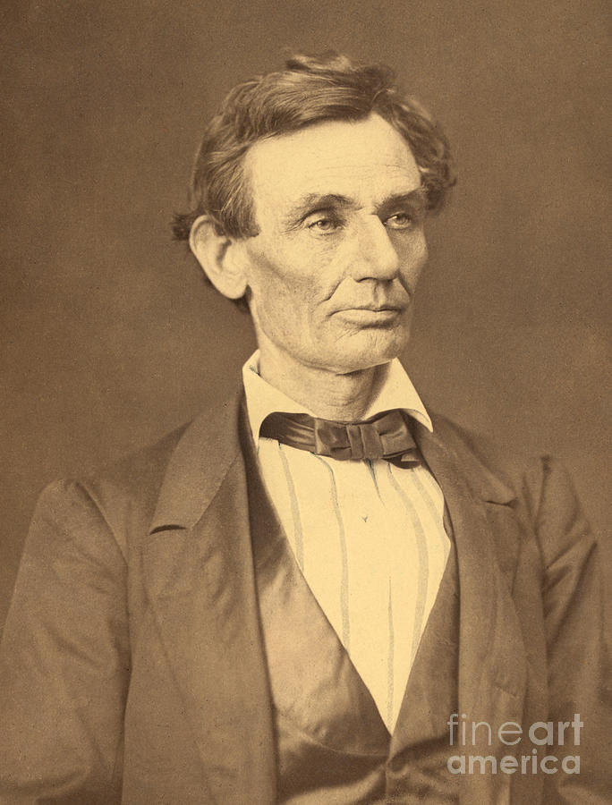 Abraham Lincoln Photograph - Portrait Of Abraham Lincoln by Alexander Hesler