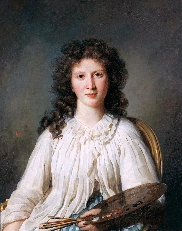 Famous Paintings Painting - Portrait Of Adelaide Binart by Marie Bouliard