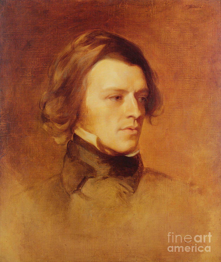 Portrait Painting - Portrait Of Alfred Lord Tennyson by Samuel Laurence