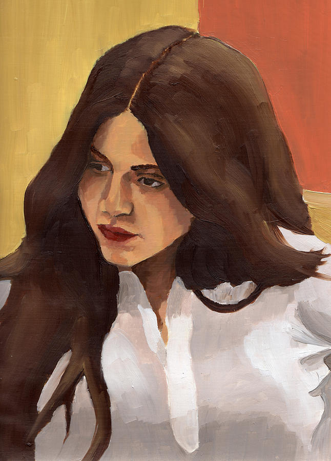 Portrait Painting - Portrait Of Amelia by Stephen Panoushek