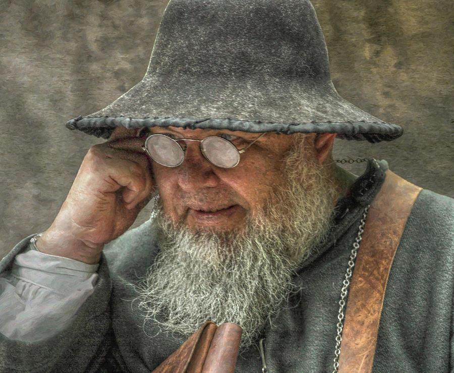 Glasses Digital Art - Portrait Of An Old Man by Randy Steele