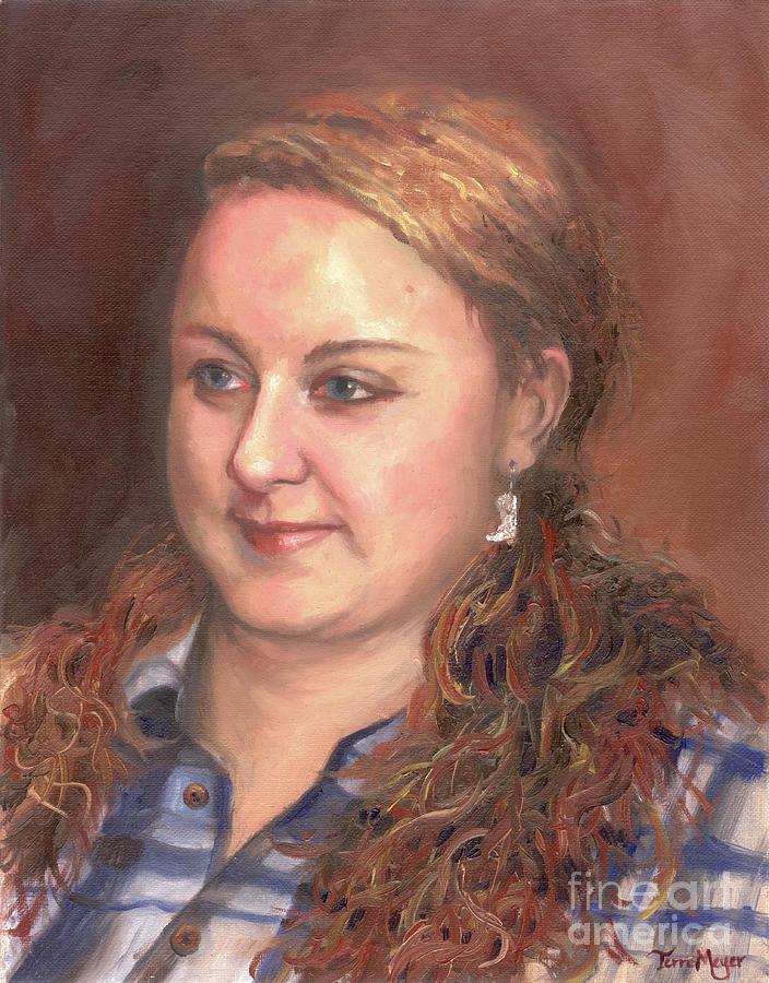 Portrait Painting Painting - Portrait Of Andrea by Terri  Meyer