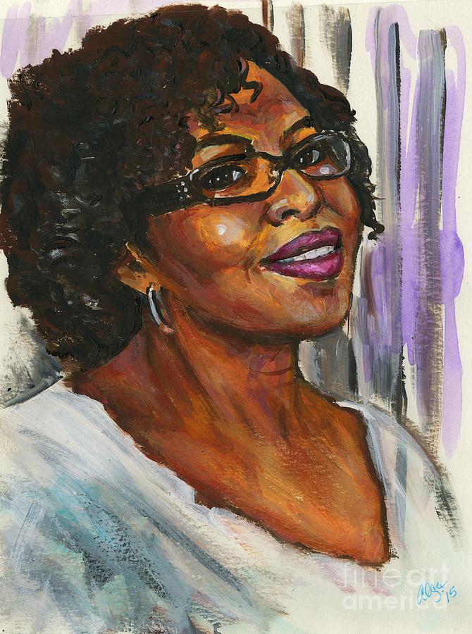 Portrait Of Angela By Alga Washington Painting
