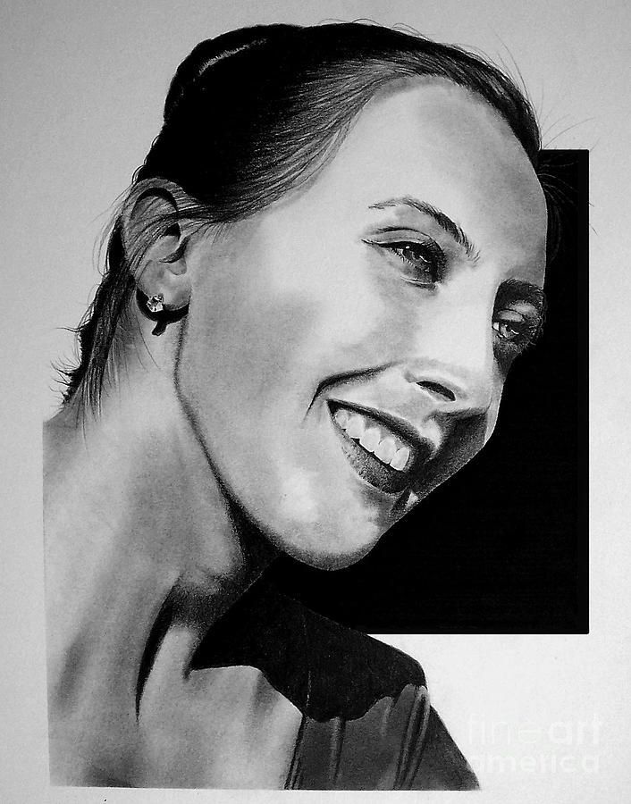 Portraits Drawing - Portrait Of Ashley by John Bowman