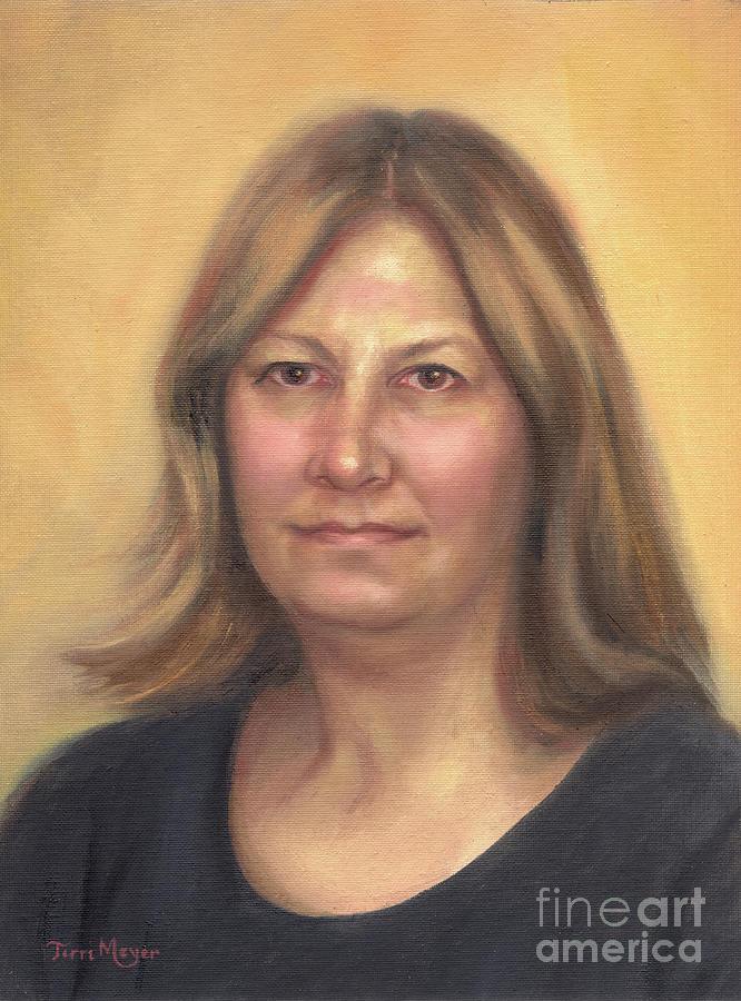 Portrait Of Birdie Painting by Terri  Meyer