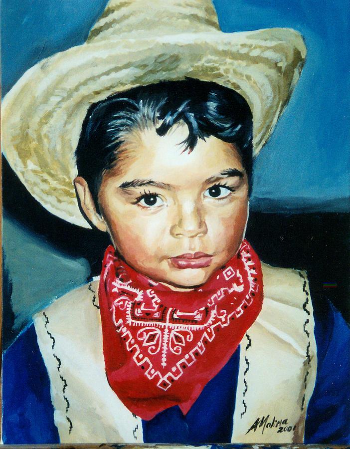 Portrait Painting - Portrait Of Boy by Antonio Molina