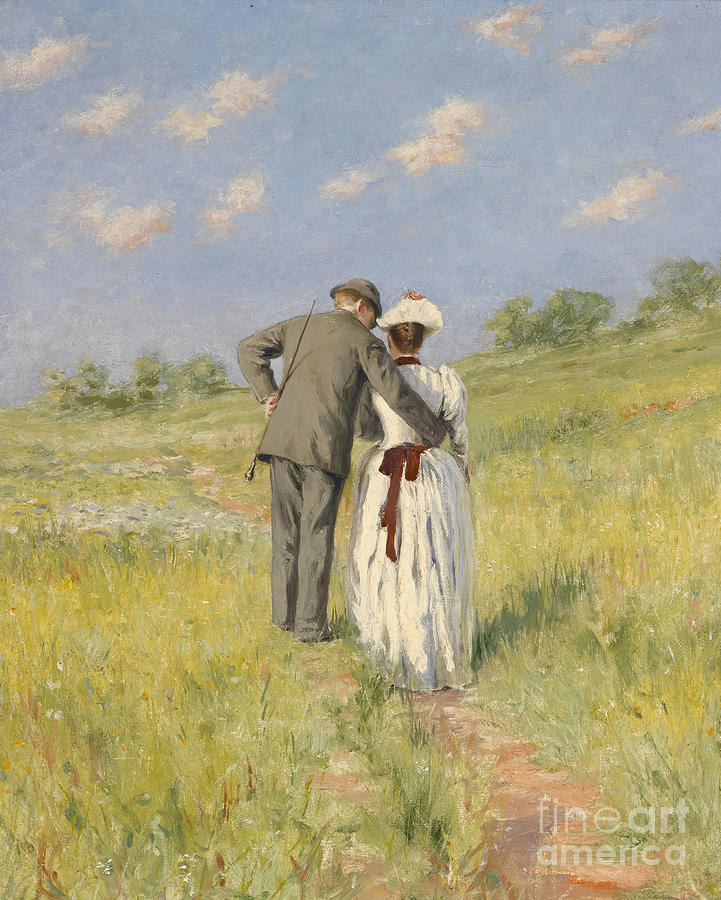 Landscapes Painting - Portrait Of Captain William Holmes And Mary Shafter Mckitterick by American School