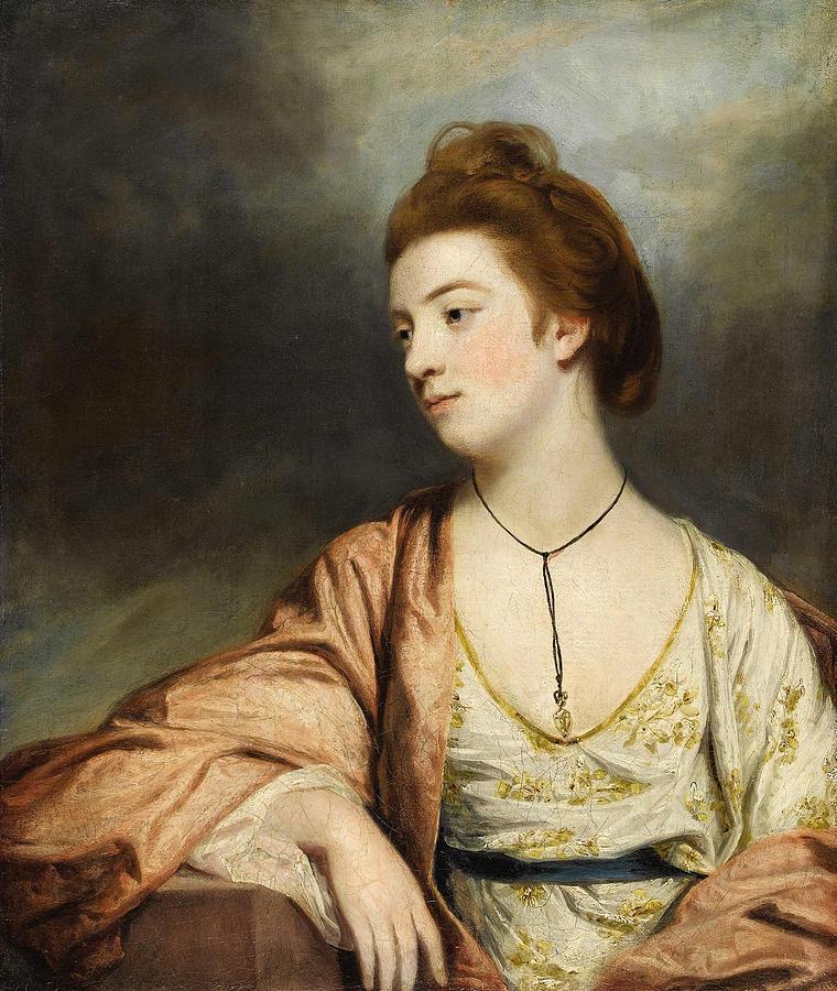 Portrait Of Caroline Cox. Lady Champneys Painting By Sir Joshua