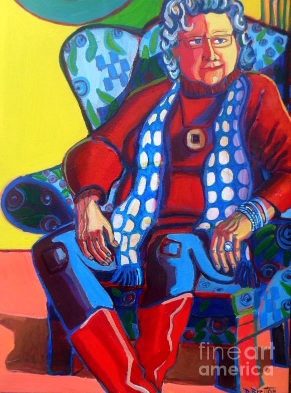 Figure Painting - Portrait of Carolyn by Debra Bretton Robinson