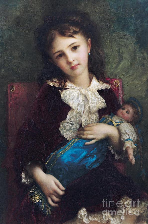 Portrait Painting - Portrait Of Catherine Du Bouchage by Antoine Auguste Ernest Hebert