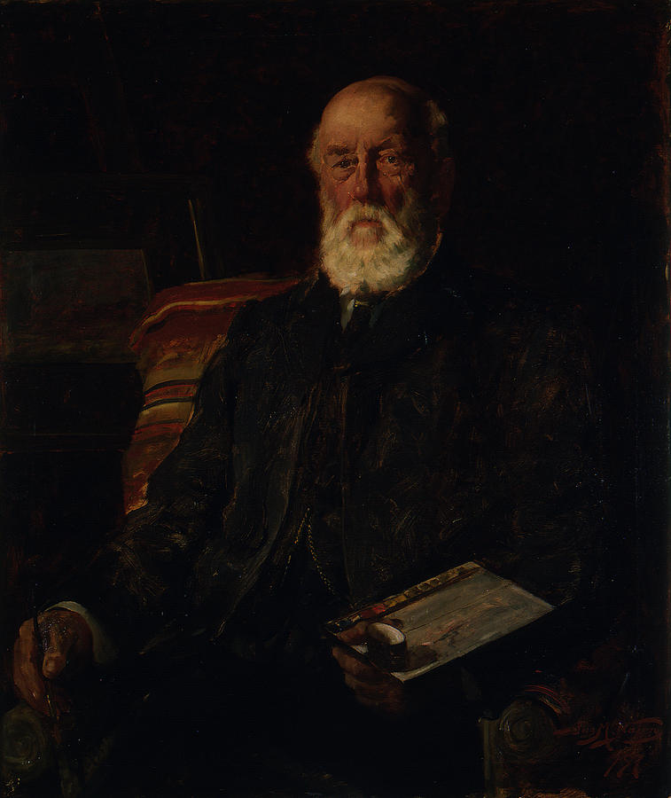 Man Painting - Portrait Of C.d. Barraud, 1897, Wellington, By James Nairn by James Nairn