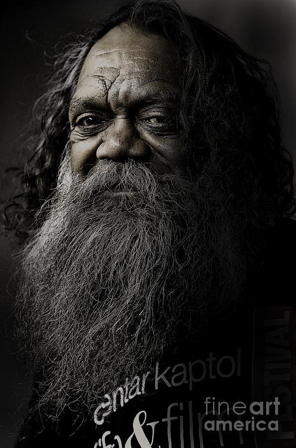 Aboriginal Photograph - Portrait Of Cedric by Sheila Smart Fine Art Photography