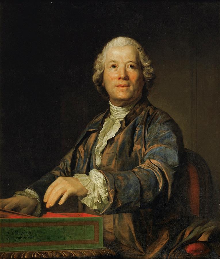 Man Painting - Portrait Of Christoph Willibald Ritter Von Gluck by MotionAge Designs