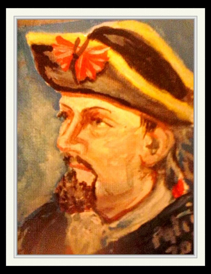 English Soldier Painting - Portrait Of Conrad As British Soldier by Patricia Ducher