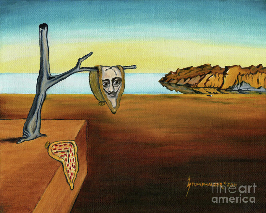 PORTRAIT OF DALI The Persistence Of Memory by Jerome Stumphauzer