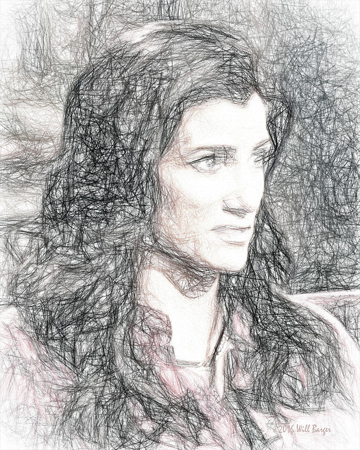Portrait of Dana Loesch, No. 1B by Will Barger