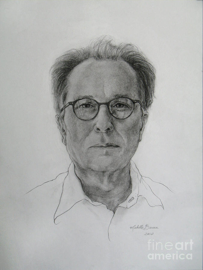 Drawing Drawing - Portrait Of David Haxton by Michelle Barone