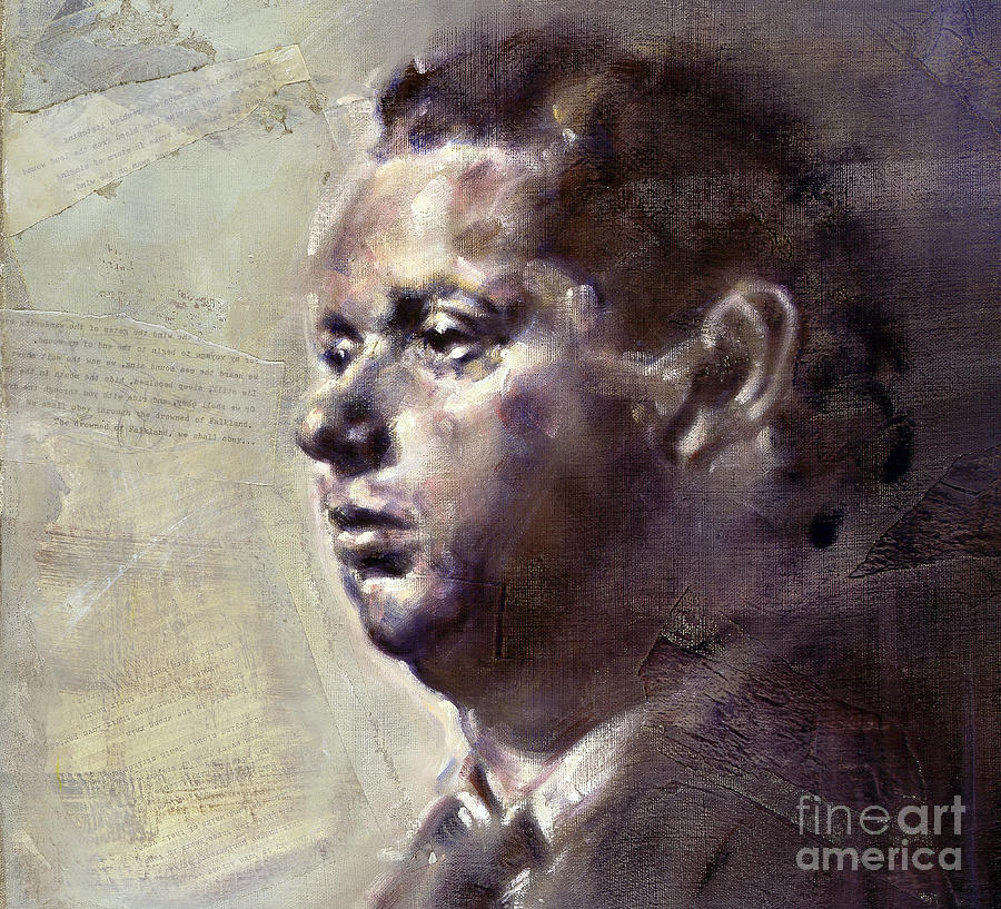 Portrait of Dylan Thomas by Ritchard Rodriguez
