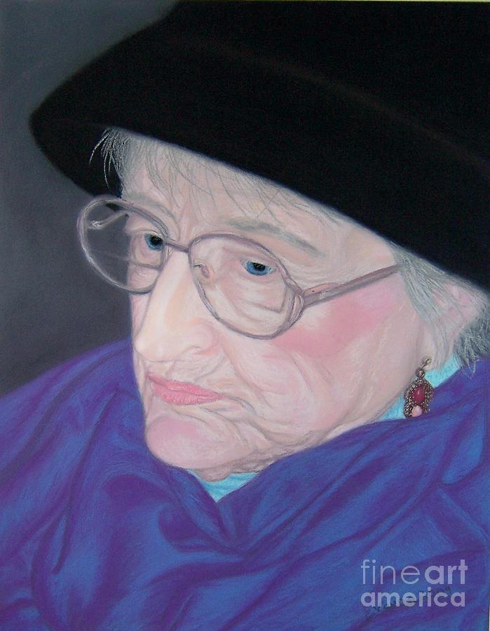Grandma Pastel - Portrait Of Elizabeth by Emily Young