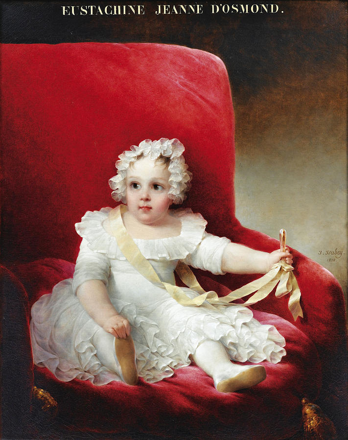 Isabey Painting - Portrait of Eustachine Jeanne DOsmond by Jean-Baptiste Isabey